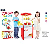 Baybee Battery Operated Kids Kitchen Play Set With Light & Sound Cooking Kitchen Set Play Toy