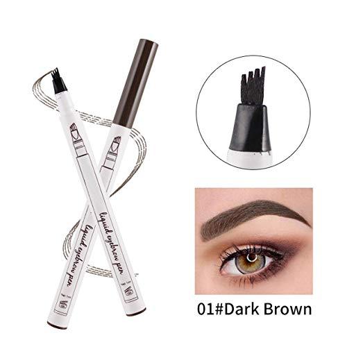 Liquid Tattoo Augenbrauenstift, ASKSA 4 Spitzenpinsel 3D Augenbrauenstift für Augenbrauen Make-up,...