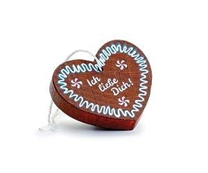 Erzi - Tienda de comestibles (Madera, 5,2 x 0,9 x 4,4 cm), diseño de corazón de Jengibre