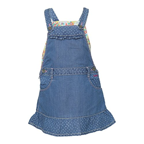 Tales & Stories Baby Girl's Light Blue Solid Denim Dress