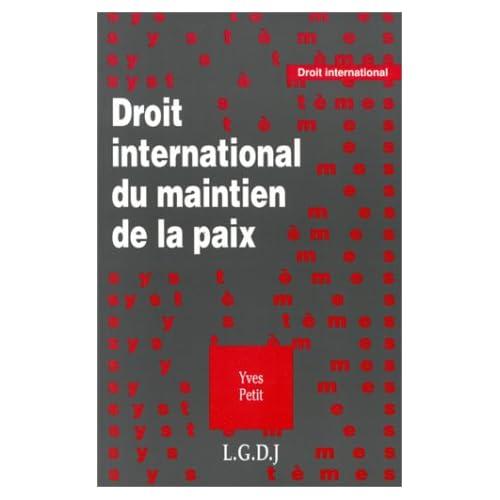 Droit international du maintien de la paix