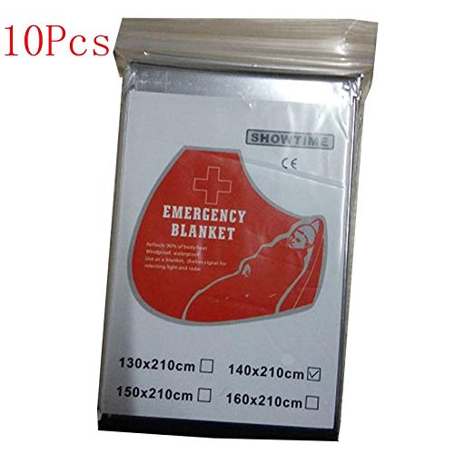 ghfcffdghrdshdfh OUTAD 10 Pcs Outdoor Waterproof Emergency Survival Thermal Blanket First Aid