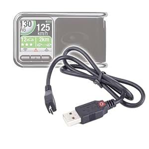 DURAGADGET câble cordon de connexion mini USB pour l'assistant d'aide à la conduite Coyote Rider, Rider Plus, Bluetooth et V1-V2 - synchronisation ordinateur / appareil