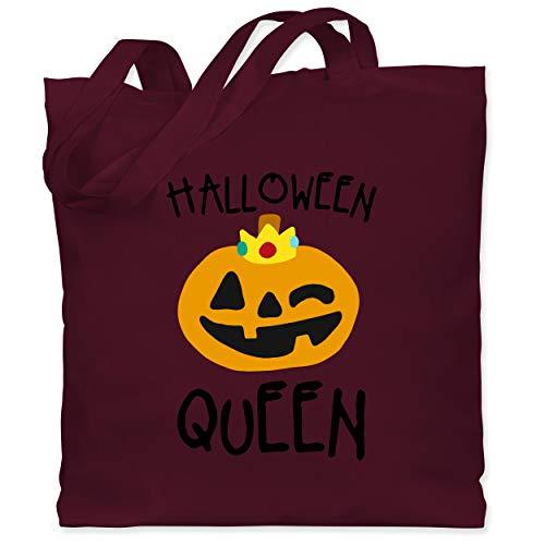 Shirtracer Halloween - Halloween Queen Kostüm - Unisize - Bordeauxrot - WM101 - Stoffbeutel aus Baumwolle Jutebeutel lange - Aktuelle Event Kostüme Ideen