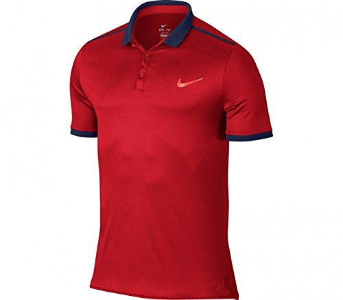 Nike Oberbekleidung Advantage Solid, rot, XL, 728947-657 (Solid Unisex T-shirt)