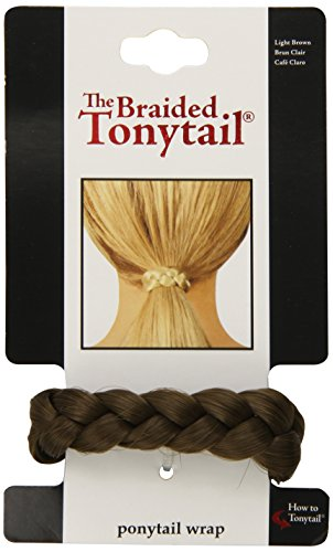 Mia Beauty Braided Tonytail Pony Tail Wrap, Light Brown, 0.05 Ounce by...