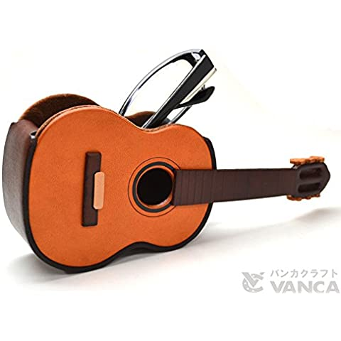 Pinzhi-Supporto per chitarra, in pelle, con supporto VANCA **, fatto a mano, Made in Giappone