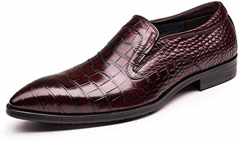 GLSHI Männer Oxford New England Spike Fuß Krokodil Flut Männer Schuhe Friseur Schuhe