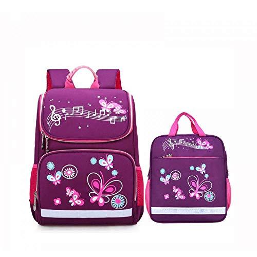 DX Schulrucksack Kinder schultaschen Set für mädchen und Jungen orthopädische Rucksack Cartoon Butterfly Auto Schultasche Kinder ranzen Rucksack -