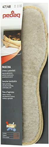 Pedag Pascha Genuine Sheepskin, Shearling Insole with Natural Cork Insulation, US M13/EU 46 by Pedag