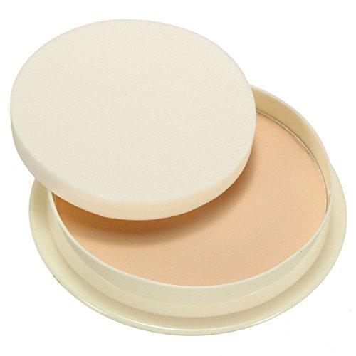 LuckyFine Poudre Pressée Compacte Correctrice Fond De Teint Eponge Powder Maquillage Visage Couleur Naturelle