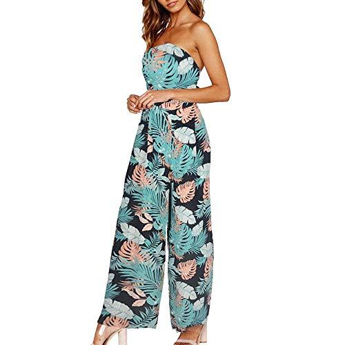 e7f1ec1d3 VJGOAL Mujer Verano Moda Casual Estilo de Vacaciones de Vacaciones  Pantalones de Pierna Largo Mono Atractivo