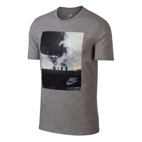 Nike Herren M Nsw Concept Blue 5 Grafik Kurzarm T-Shirt, Grau, Small (Logo Force Air)