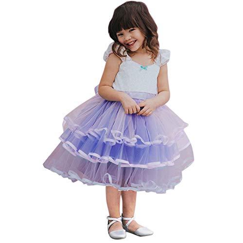 Amphia - Outfits Kleidung Mädchen Rock Kleinkind Neugeborenes Mädchen Prinzessin Brief Tutu Kleid - Mädchen beugen Prinzessin Nähte Farbe Mesh Rock,(12M-4J)