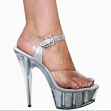 US12 EU44 Heel Stiletto Donna Pvc Oltre Bianco Amp; RTRY Crystal Flip Party Amp; Sera Amp; Pantofole Nero Summer Ruby Flops CN46 Ciabatte 5In UK10 R1Oq4