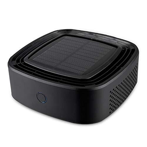 AX Autoluftreiniger, Auto-Solarreiniger, USB-Auto-Lufterfrischer und Ionen-Luftreiniger, zusätzlich zum Formaldehyd-Autoluftreiniger,Black