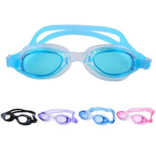 BXZ Schwimmbrillen Anti-Fog-Beschichtung Hellen großen Rahmen verletzt Nicht das Auge Schwimmbrille Anti-Fog ohne Leckage Indoor-und Outdoor-Anti-UV-Brille, Spiegel transparente Linse -