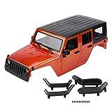 Dilwe RC Auto Karosserie, Ferngesteuertes ModellfahrzeugSchale für Axial SCX10 Jeep Wrangler Crawler( Orange)