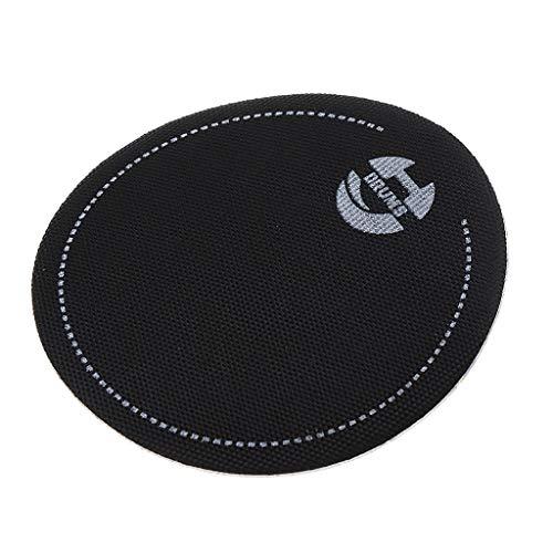 perfk Bass Drum Fell Schlagzeug-Schutz Schlaginstrument Zubehör Durchmesser 65 mm - Schwarz