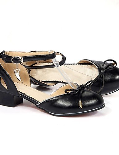 LFNLYX Chaussures Femme-Mariage / Bureau & Travail / Habillé / Décontracté / Sport / Soirée & Evénement-Noir / Blanc-Talon Plat-Bout Ouvert / beige