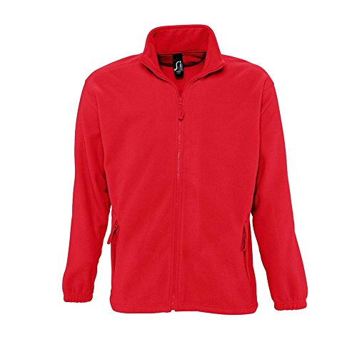 Sols - Fleecejacke 'North' bis Größe 5XL XXL,Red