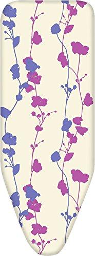 Alphaitalia easy fit cotone con feltro e elastico copriasse da stiro, multicolore, 125x 43cm, cotone, multicolore, taglia unica