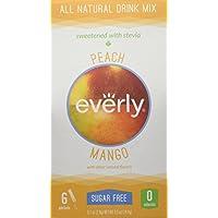 Everly - Tutto il mango senza zucchero naturale della pesca del preparato della bevanda - 6Pacchetto (i)