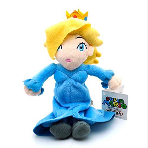 zoomingmingli Super Mario Plüsch Blau Sitzende Prinzessin Rosalina Plüschtiere Puppe Weiches Stofftier Für Mädchen Tag 1 Stück 16Cm