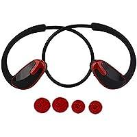 RoadRomao Super Bass Banda para el Cuello inalámbrica Bluetooth Impermeable Auriculares con micrófono Deportes