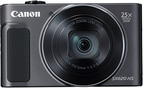 Canon PowerShot SX620 HS Digitalkamera (20,2 MP, 25-fach optischer Zoom, 50-fach ZoomPlus, 7,5cm (3 Zoll) Display, opt Bildstabilisator, WLAN, NFC) schwarz