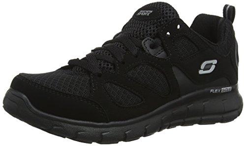 Skechers Jungen Vim- Turbo Ride Sneaker, Schwarz (Black BBK), 33.5 EU (Skechers Schuhe Jungs Sportliche)