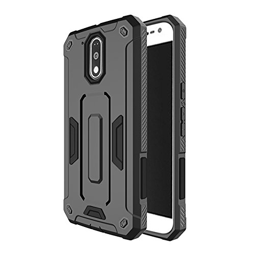 Chevron Moto G Plus 4th Gen (G4) Back Cover - Galaxy Black [Next Generation Robot Hybrid Case] [Impact Resistant Technology - Shock Proof] [Dual Layer Scratch Protection] For Moto G Plus 4th Gen (G4)
