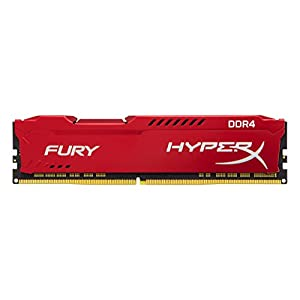HyperX FURY DDR4 16 GB, 3466 MHz CL19 DIMM XMP - HX434C19FR/16, Red