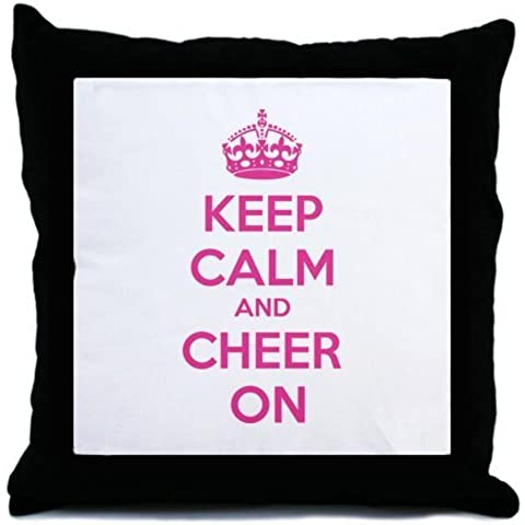 CafePress Keep calm and cheer on Throw Pillow - Standard Multi-color by CafePress