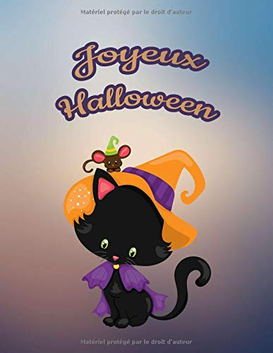 Joyeux Halloween: Pour nos petits : Grand carnet de notes de 121 pages blanches avec couverture et pages sur le thème d'Halloween