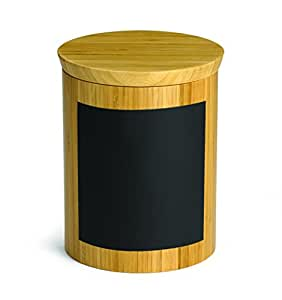 schreiben auf bambus riser container rund 15 cm kreidetafel bambus glas f r k che. Black Bedroom Furniture Sets. Home Design Ideas