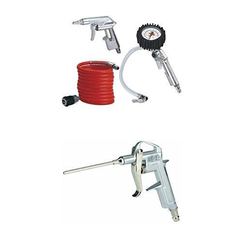 Einhell Druckluft Set, 3-teilig Passend für Kompressoren (4 m Spiralschlauch, Reifenfüllmesser,...