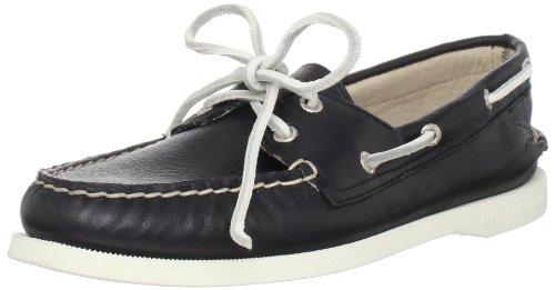 Sperry Authentic Original 2-Eye 9294273, Chaussures basses femme Noir - V.9