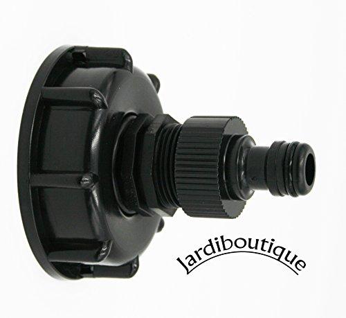 Verbindungsstück PVC S60X6mit Spigot (Endstück für Gartenschlauch) für Tank 1000Liter IBC von Jardiboutique.