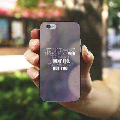 Apple iPhone 4 Housse Étui Silicone Coque Protection Phrases Pissenlit love Amour Housse en silicone noir / blanc