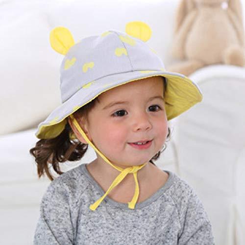 zhuzhuwen Zwei Ecke Becken Kappe kreative Kinder Hut Cartoon Flut Fischer Hut Baby Visier 3 50cm Bell Krug
