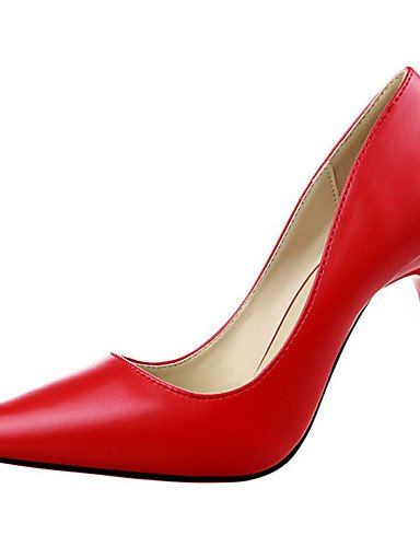 WSS 2016 Chaussures Femme-Décontracté-Noir / Jaune / Rose / Rouge / Gris / Corail-Gros Talon-Talons-Talons-Laine synthétique yellow-us5 / eu35 / uk3 / cn34