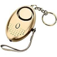 Mini alarma de seguridad llavero/llavero con luz LED para las mujeres niños noche trabajador antirrobo alarma bolso de mano decoraciones