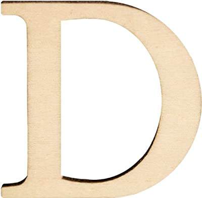 "Wood Letters & Numbers 1-1/2"" 2/Pkg-D"