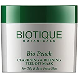 Biotique Bio Peach Clarifying & Refining Peel-Off Mask For Oily & Acne Prone Skin, 50G