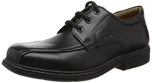 Geox Boys JR Federico H Derby, Black, 32 EU