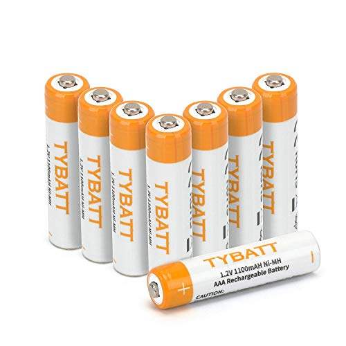 Wiederaufladbare Batterien, TYBATT NiMH Akku AAA Mignon 1100mAh hochkapazitiv Hohe Kapazität ohne Memory-Effekt Profi Digital Kamera-Akkubatterie 8er Pack Digital Kamera 1,5