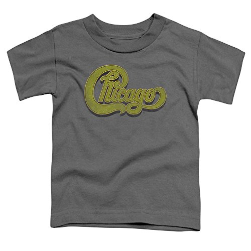 Chicago - Kleinkinder Distressed T-Shirt, 4T, Charcoal (Chicago Kleinkind-shirt)