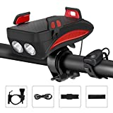 Lypulight Bike Light, USB Rechargeable Bike Front Light, Multifunctional Cycling Light with Phone