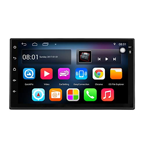 KKXXX S6 Android 7.1 2 DIN Car Stereo 1 GB de RAM 16 GB ROM Quad Core GPS de navegación Radio Auto Am/FM Mirror Link Control de Volante BT Manos Libres Call Music Video 1080P HD Touch Screen